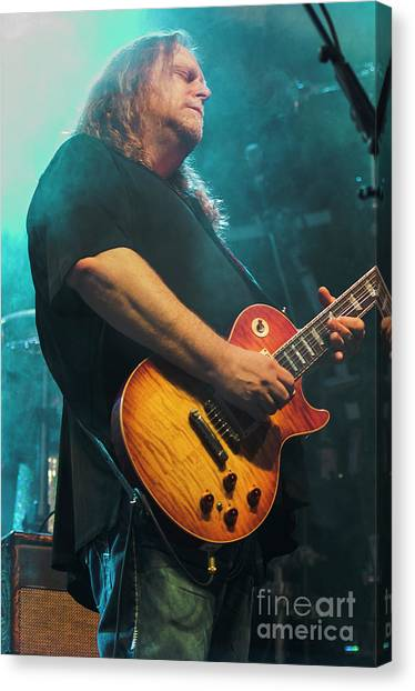 The Allman Brothers Band Canvas Print - Warren Haynes With The Allman Brothers Band by David Oppenheimer