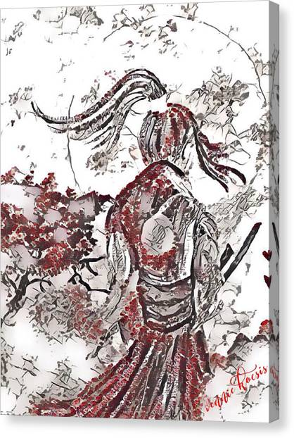 Warrior Moon Anime Canvas Print