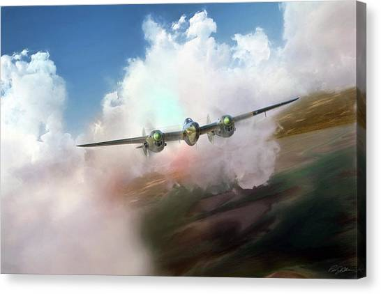 United States Army Air Corps Canvas Print - Warrior by Peter Chilelli