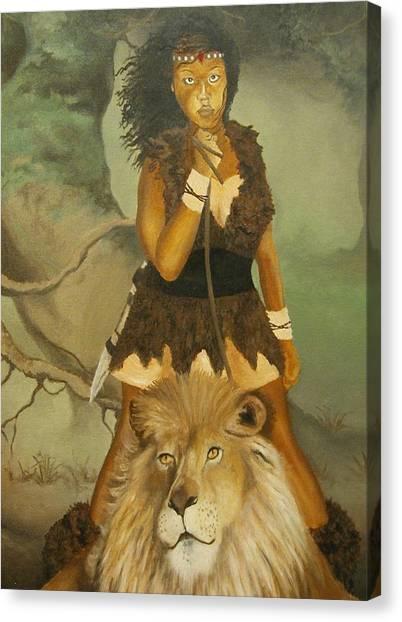 Warrior Princess Canvas Print by Angelo Thomas