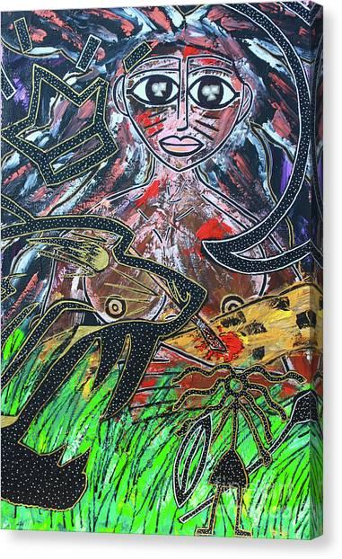 Warrior Spirit Woman Canvas Print