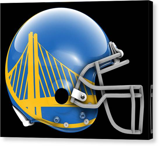 Golden State Warriors Canvas Print - Warriors What If Its Football by Joe Hamilton