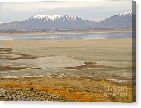 Wasatch Mountains From Antelope Island Canvas Print