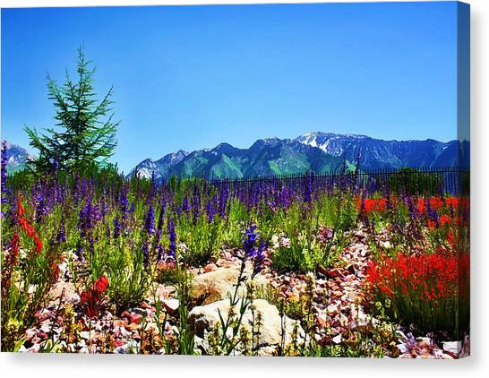 Wasatch Mountains In Spring Canvas Print