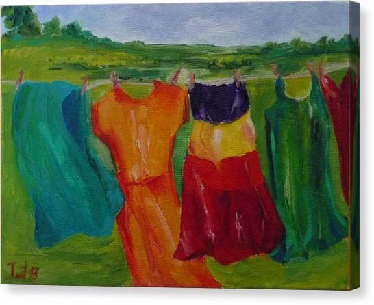 Wash Dance Canvas Print by Irit Bourla