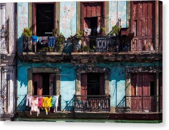Prado Canvas Print - Wash Day On The Prado - Havana by Mountain Dreams