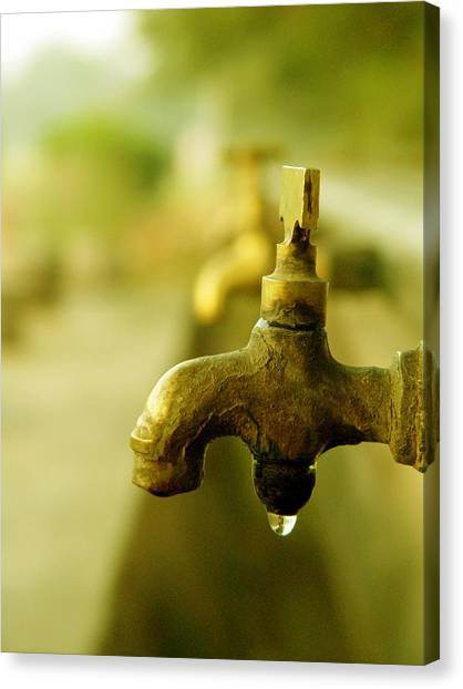 Wash It Away And Find Peace Canvas Print by Murtaza Humayun Saeed