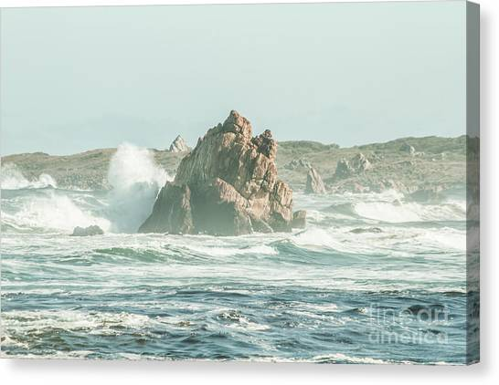 North Shore Canvas Print - Wash Of Blue by Jorgo Photography - Wall Art Gallery