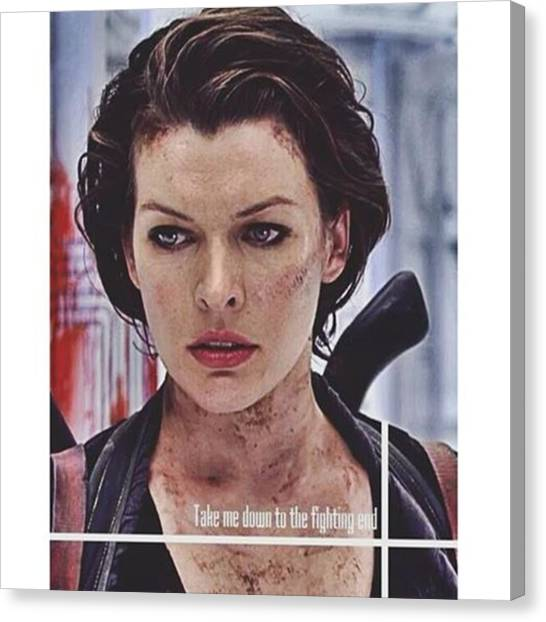 Canvas Print - Wash The Poison From Off My Skin by Resident Evil