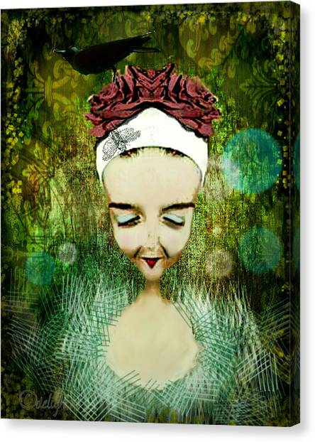 Canvas Print featuring the digital art Wash Your Face Each Night by Delight Worthyn