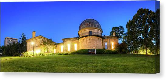 University Of Wisconsin - Madison Canvas Print - Washburn Observatory Panorama by Gregory Payne