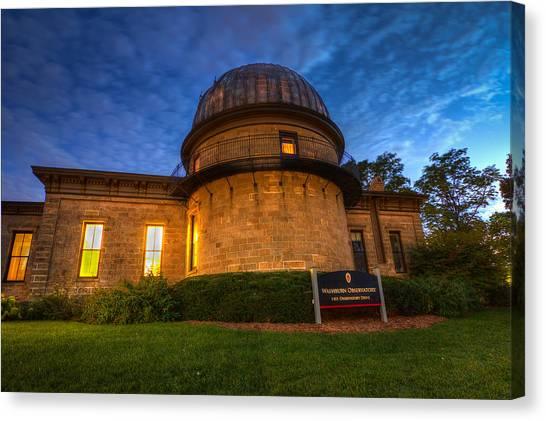 University Of Wisconsin - Madison Canvas Print - Washburn Observatory Uw Madison by Gregory Payne
