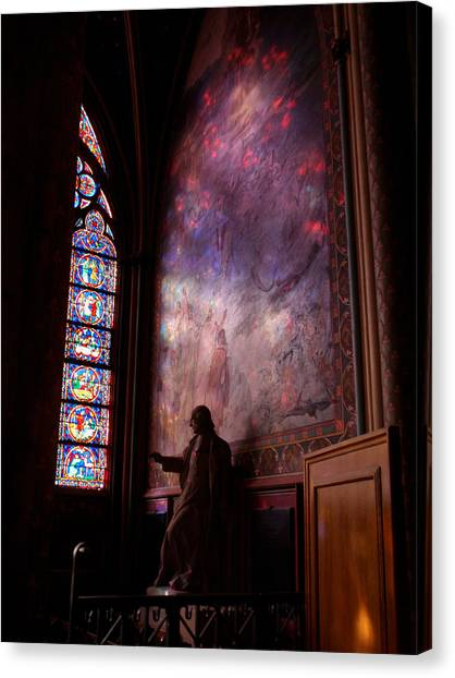 Washed In Rose Glass Canvas Print by Edan Chapman