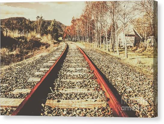 Railroads Canvas Print - Washed Out Lines by Jorgo Photography - Wall Art Gallery