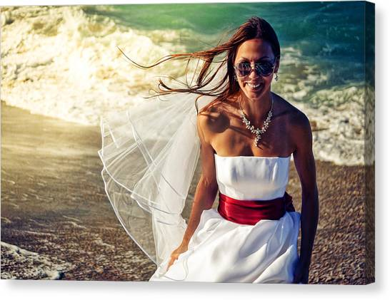 Lucky Canvas Print - Washed Up Bride by Lucky Chen