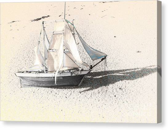 Wreckage Canvas Print - Washed Up Wooden Boat by Jorgo Photography - Wall Art Gallery
