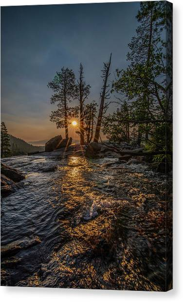 Washed With Golden Rays Canvas Print