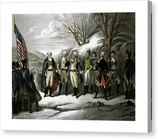 President Canvas Print - Washington And His Generals  by War Is Hell Store
