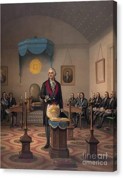 Free Canvas Print - Washington As A Master Mason by American School