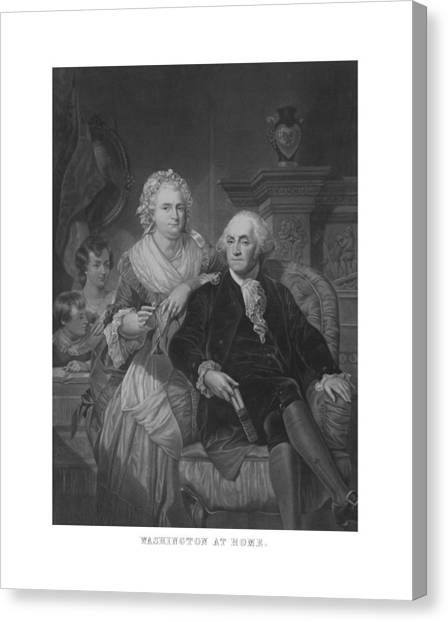 George Washington Canvas Print - Washington At Home by War Is Hell Store