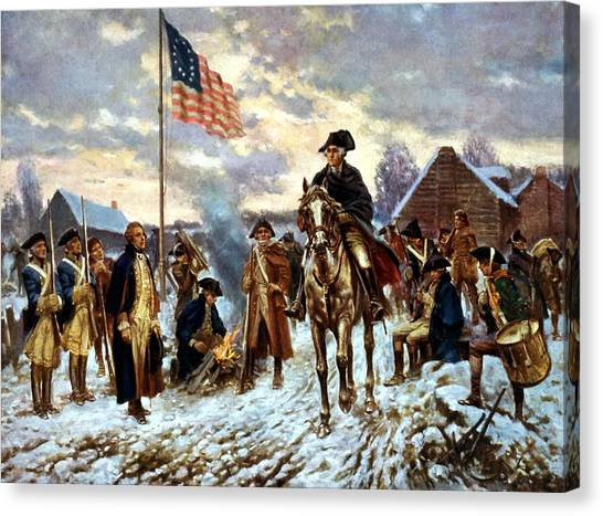 War Horse Canvas Print - Washington At Valley Forge by War Is Hell Store