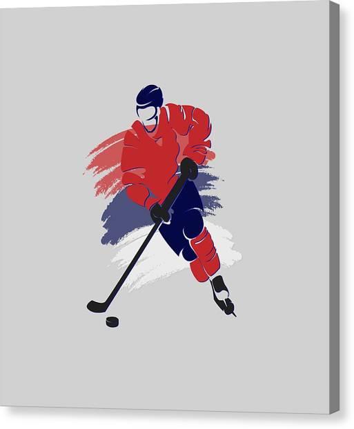 Washington Capitals Canvas Print - Washington Capitals Player Shirt by Joe Hamilton