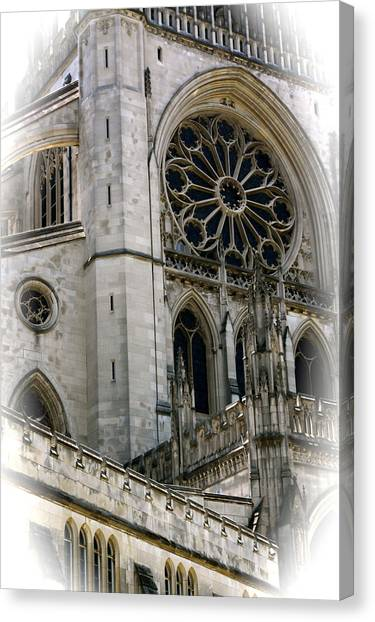Washington Cathedral Canvas Print by Charlie Parker