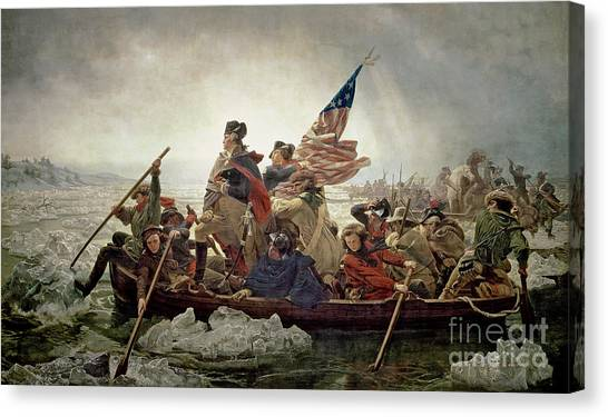 Fighting Canvas Print - Washington Crossing The Delaware River by Emanuel Gottlieb Leutze
