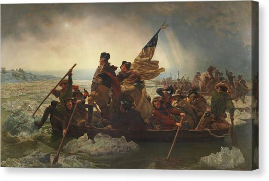 President Canvas Print - Washington Crossing The Delaware by War Is Hell Store