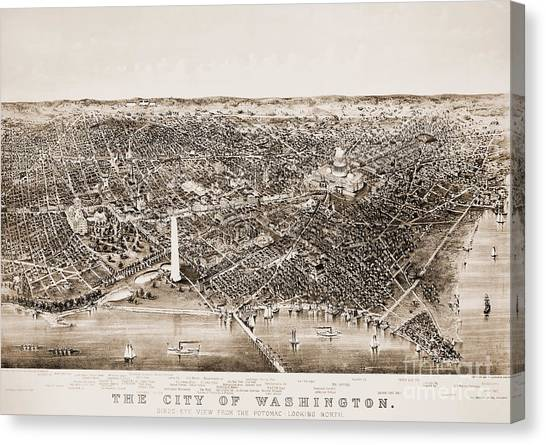 Washington Monument Canvas Print - Washington D.c., 1892 by Granger