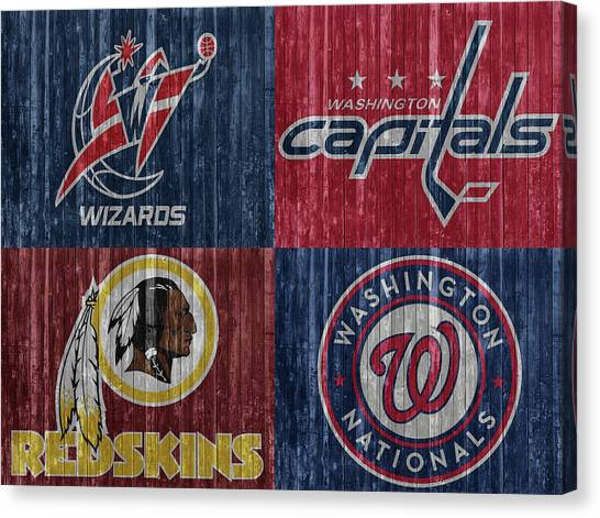 Washington Dc Sports Teams Canvas Print