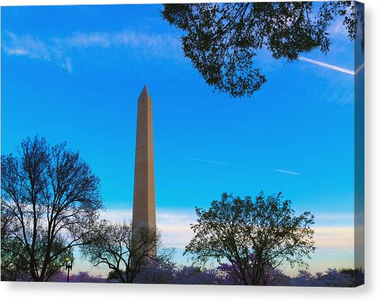 Washington Monument Canvas Print by Heidi Pix