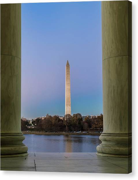 Caverns Canvas Print - Washington Monument  by Larry Marshall