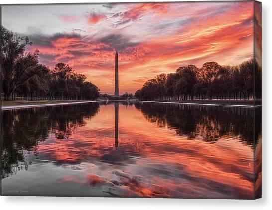 Washington Monument Sunrise Canvas Print