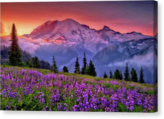 Washington, Mt Rainier National Park - 05 Canvas Print