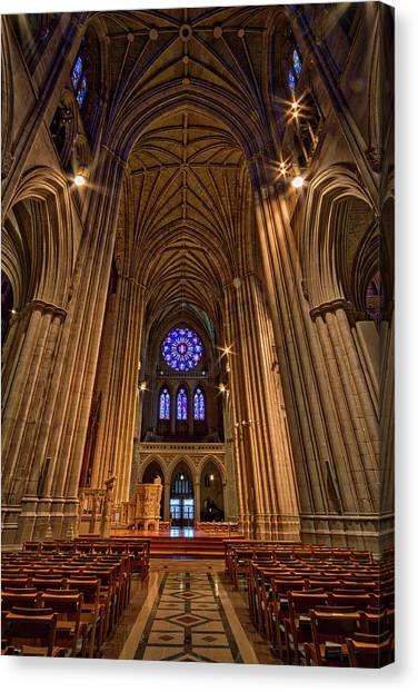 Washington National Cathedral Crossing Canvas Print
