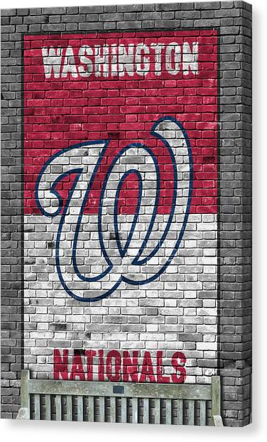 Washington Nationals Canvas Print - Washington Nationals Brick Wall by Joe Hamilton