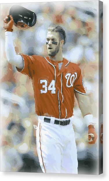 Washington Nationals Canvas Print - Washington Nationals Bryce Harper 2 by Joe Hamilton