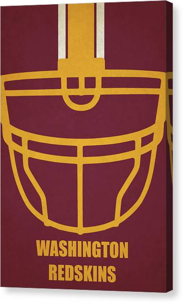 Superbowl Canvas Print - Washington Redskins Helmet Art by Joe Hamilton