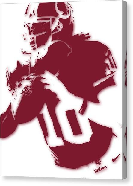 Washington Redskins Canvas Print - Washington Redskins Robert Griffin Jr by Joe Hamilton