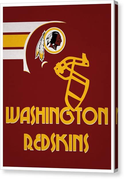 Washington Redskins Canvas Print - Washington Redskins Team Vintage Art by Joe Hamilton