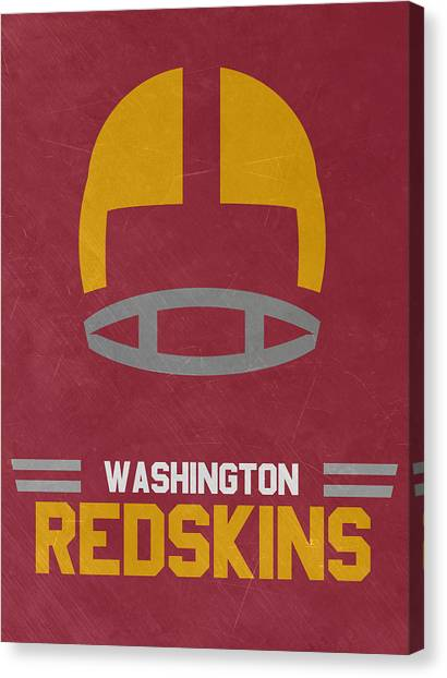 Washington Redskins Canvas Print - Washington Redskins Vintage Art by Joe Hamilton