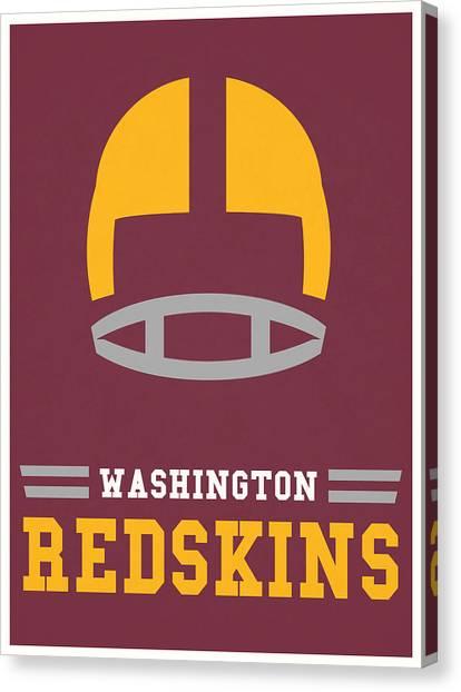 Washington Redskins Canvas Print - Washington Redskins Vintage Nfl Art by Joe Hamilton
