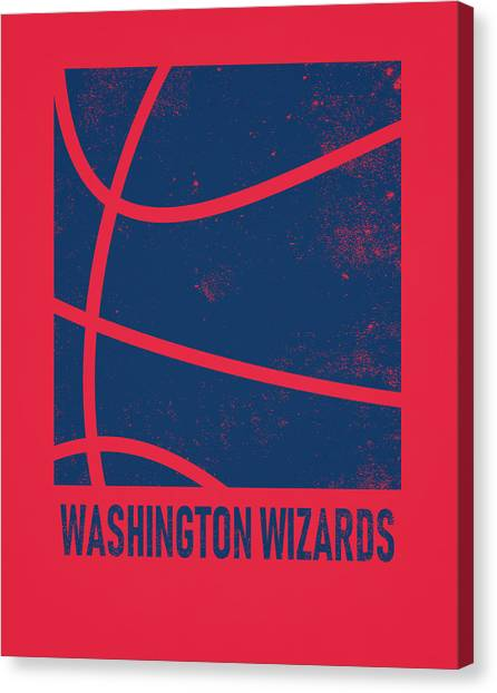 Washington Wizards Canvas Print - Washington Wizards City Poster Art 2 by Joe Hamilton