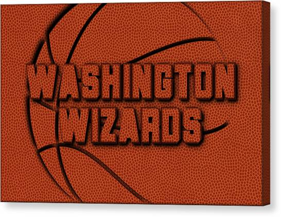 Washington Wizards Canvas Print - Washington Wizards Leather Art by Joe Hamilton