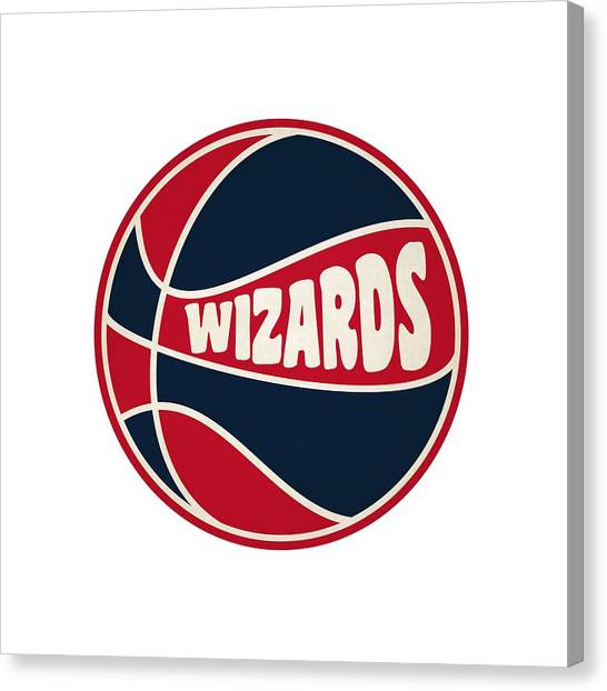 Washington Wizards Canvas Print - Washington Wizards Retro Shirt by Joe Hamilton
