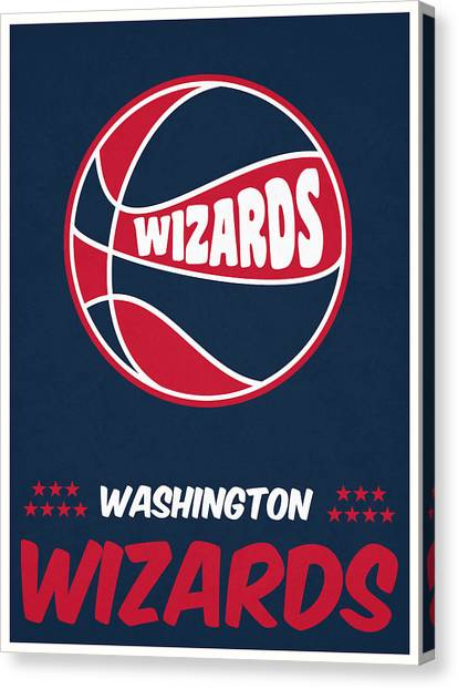 Washington Wizards Canvas Print - Washington Wizards Vintage Basketball Art by Joe Hamilton