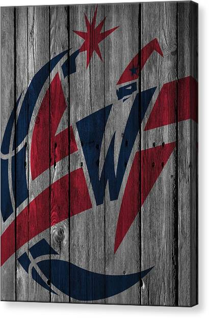 Washington Wizards Canvas Print - Washington Wizards Wood Fence by Joe Hamilton