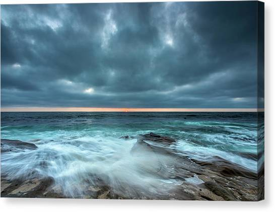Surf Lifestyle Canvas Print - Washover by Peter Tellone