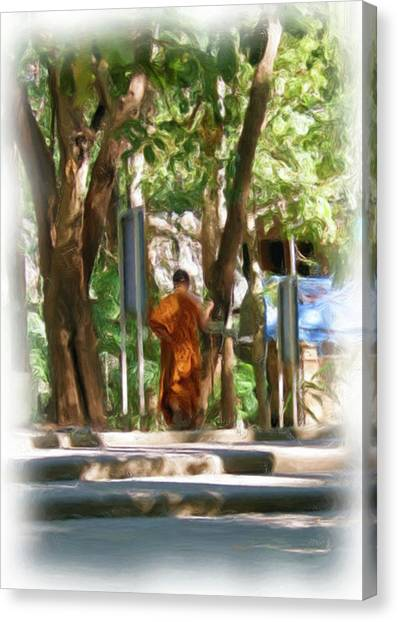 Wat Umong 2 Canvas Print